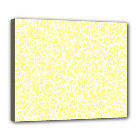 Yellow pattern Deluxe Canvas 24  x 20