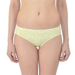 Yellow pattern Hipster Bikini Bottoms