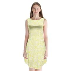 Yellow pattern Sleeveless Chiffon Dress