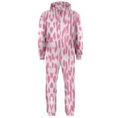 Leopard pink pattern Hooded Jumpsuit (Men)