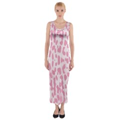 Leopard pink pattern Fitted Maxi Dress