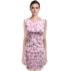 Leopard pink pattern Classic Sleeveless Midi Dress