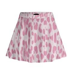 Leopard pink pattern Mini Flare Skirt