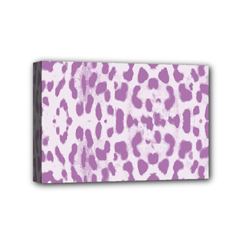 Purple leopard pattern Mini Canvas 6  x 4