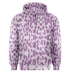 Purple leopard pattern Men s Zipper Hoodie