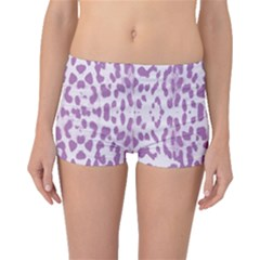 Purple leopard pattern Boyleg Bikini Bottoms