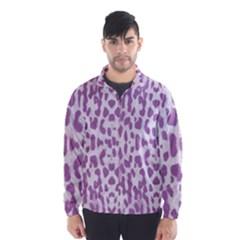 Purple leopard pattern Wind Breaker (Men)