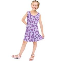 Purple leopard pattern Kids  Tunic Dress