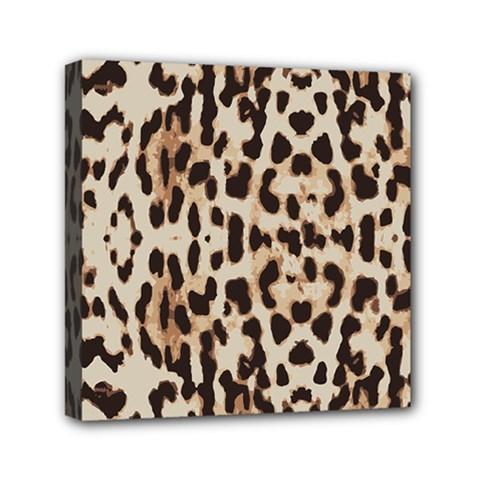 Leopard pattern Mini Canvas 6  x 6