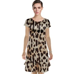 Leopard pattern Cap Sleeve Nightdress