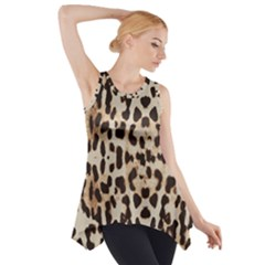 Leopard pattern Side Drop Tank Tunic