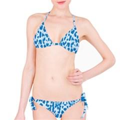 Blue leopard pattern Bikini Set