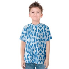 Blue leopard pattern Kids  Cotton Tee