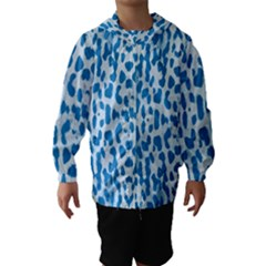 Blue leopard pattern Hooded Wind Breaker (Kids)