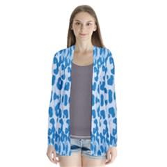 Blue leopard pattern Cardigans