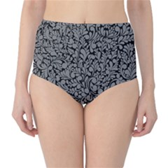 Pattern High-Waist Bikini Bottoms