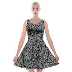 Pattern Velvet Skater Dress