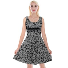 Pattern Reversible Velvet Sleeveless Dress