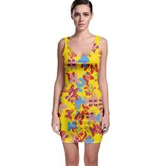 Butterflies  Sleeveless Bodycon Dress