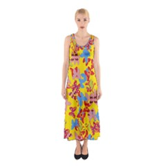 Butterflies  Sleeveless Maxi Dress