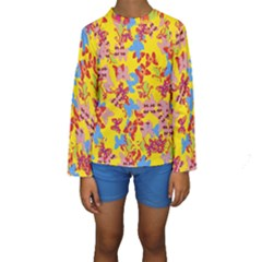 Butterflies  Kids  Long Sleeve Swimwear