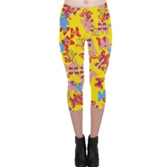 Butterflies  Capri Leggings