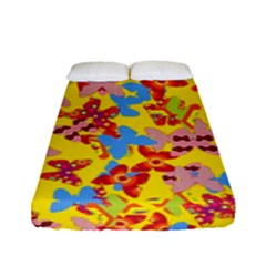 Butterflies  Fitted Sheet (Full/ Double Size)
