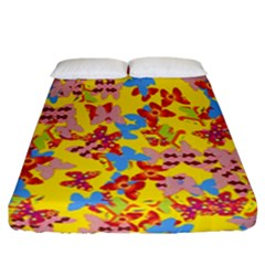 Butterflies  Fitted Sheet (California King Size)