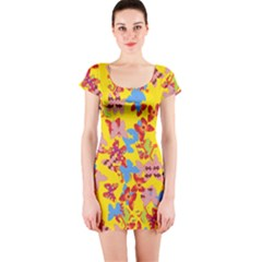 Butterflies  Short Sleeve Bodycon Dress