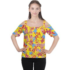Butterflies  Women s Cutout Shoulder Tee