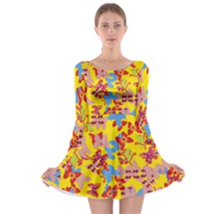 Butterflies  Long Sleeve Skater Dress