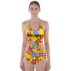 Butterflies  Cut-Out One Piece Swimsuit