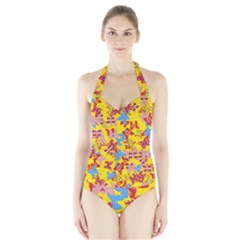 Butterflies  Halter Swimsuit