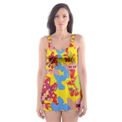 Butterflies  Skater Dress Swimsuit