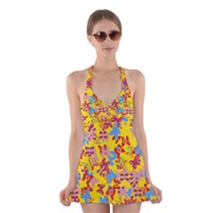 Butterflies  Halter Swimsuit Dress