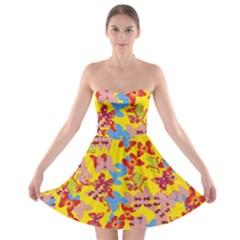 Butterflies  Strapless Bra Top Dress