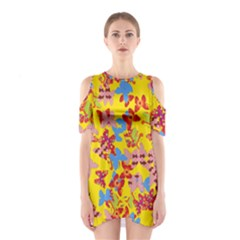Butterflies  Shoulder Cutout One Piece