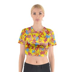 Butterflies  Cotton Crop Top