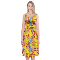 Butterflies  Midi Sleeveless Dress