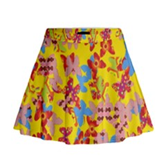 Butterflies  Mini Flare Skirt
