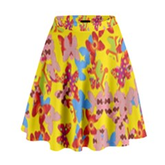 Butterflies  High Waist Skirt