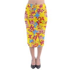 Butterflies  Midi Pencil Skirt