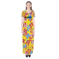 Butterflies  Short Sleeve Maxi Dress