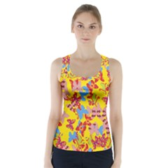 Butterflies  Racer Back Sports Top
