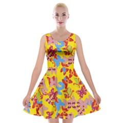 Butterflies  Velvet Skater Dress