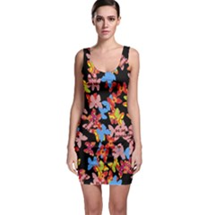 Butterflies Sleeveless Bodycon Dress