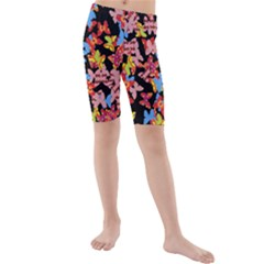 Butterflies Kids  Mid Length Swim Shorts