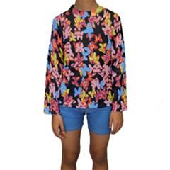 Butterflies Kids  Long Sleeve Swimwear