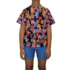 Butterflies Kids  Short Sleeve Swimwear