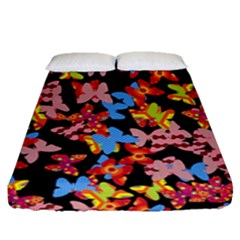 Butterflies Fitted Sheet (Queen Size)